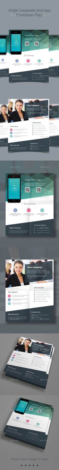 Angle Modern Corporate And App Promotion Business Flyer on Behance