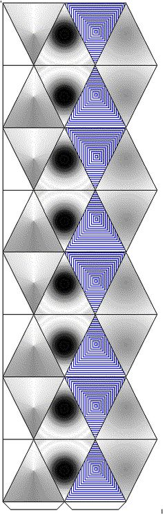 desarrollo plano de unkaleidocycle octagonal