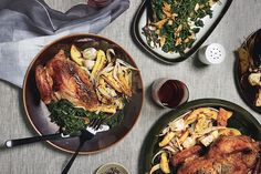 all season long roast chickens with pistachio salsa peppers and corn ...