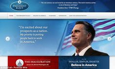 One of Mitt Romney's biggest selling points during the election was his business savvy and his team's professional experience. While he was not convincing enough to win, but that was not because his team lacked in efficiency. One of his staffers, however, apparently waited until the former Governor officially lost the election to make a clerical error in (presumably) leaking the link to the candidate's transition website accidentally.    Follow us: @MailOnline on Twitter | DailyMail on Facebook