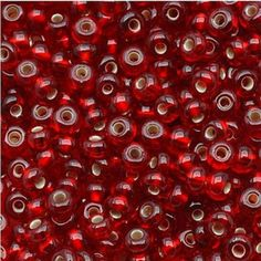 Jablonex Czech Seed Beads, Size Ruby Red Silver Lined Cheap Crystals, Beaded Jewelry, Handmade Jewelry, Fashion Show 2016, Love Coupons, Weaving Techniques, Beading Supplies, Ruby Red, Bead Weaving