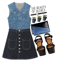 """""""The sound of silence"""" by mihreta-m ❤ liked on Polyvore featuring Shoe Cult, Marni, Ileana Makri and bhalo"""