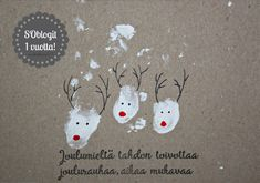 Tykkään vanhoista jutuista ja uusista ideoista! DIY | Koti | leivonta | kirjat | lifestyle | sisustus | inspiraatio Personalised Christmas Cards, Homemade Christmas Cards, Christmas Wishes, Xmas Cards, Handmade Christmas, Christmas Fair Ideas, Christmas Inspiration, Christmas Crafts, Christmas Decorations