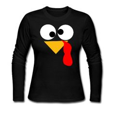 Turkey Face Long Sleeve http://kreativeinkinder.spreadshirt.com/