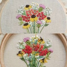 Business in the front. Party in the back.  #hoopguts #wildflowers  .  .  .  .  .  #blackeyedsusan #flowerbouquet #thistle #fleabane #phlox #handstitched #frenchknots #makersmovement #texture #ihavethisthingwithpink #flipside #dmcembroidery #flowerlovers #dstexture #handmade #fiberart #damngoodstitch #bordado #embroideryinstaguild #broderie #thehandmadeparade #usamade #handembroidery #from_your_perspective #buzzfeeddiy #craftsposure