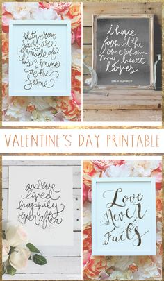 I have some lovely hand lettered prints (by yours truly) from my shop that I wanted to share with you all in honor of Valenti...