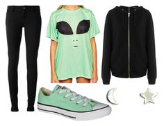 """Alien Week:Saturday"" by doodlebob3 ❤ liked on Polyvore featuring Gucci, Converse, BLK DNM and Upper Metal Class"