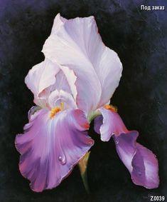 art ludivine corominas - Page 3 Iris Flowers, Exotic Flowers, Beautiful Flowers, Iris Painting, Silk Painting, Art Floral, Watercolor Flowers, Watercolor Paintings, Iris Art
