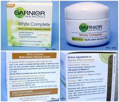 Garnier White Complete Fairness Face cream