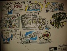 RECENTLY I WAS booked to draw on-the-spot cartoons at a corporate conference for Insurance giant Mazars.