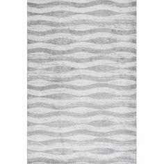 Mercury Row Lada Abstract Waves Gray Area Rug & Reviews | AllModern