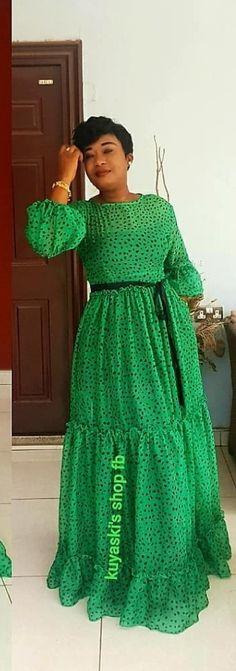 Ankara Short Gown Styles, Latest African Fashion Dresses, African Dresses For Women, African Print Fashion, English Dress, African Blouses, Big Size Dress, Flowing Dresses, Mavis
