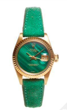 vintage green malachite rolex