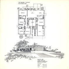 Mirror image but a similar design to Valerie's house, but Eichler Homes Mid Century Post and Beam Floorplan Poster Size Poster Modern Floor Plans, Modern House Plans, House Floor Plans, Joseph Eichler, Orange County, Eichler Haus, Vintage House Plans, Courtyard House, Post And Beam