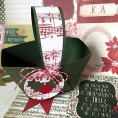 Christmas Mini Baskets  Sheet Music. Xmas party, thank you gifts, teachers gifts, table decor by MyPaperPlanet