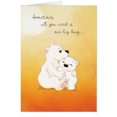 Bear Hugs For You Card  $3.60  by sandrarosecreations  - custom gift idea