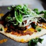 Mexican Pizza from the Pioneer Woman - this would be really good on the cauliflower crust pizza