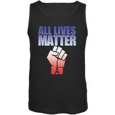 All Lives Matter Paris Raised Fist Black Adult Tank Top
