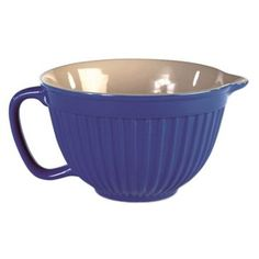 Check out this item at One Kings Lane! S/2 Batter Bowls, Blue