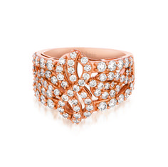 14KT Strawberry Gold Fashion Ring with 1.73CT total weight vanilla diamonds. #LeVian #fashionring
