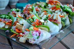 Fresh Spring Rolls With Thai Dipping Sauce!  Cool eats for hot summer nights.  #CLFunFoods