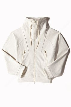 High neck workout jacket - adidas by Stella McCartney Sport Fashion, Look Fashion, Fitness Fashion, 80s Fashion, Estilo Fitness, Outfits With Converse, Stella Mccartney Adidas, Sport Wear, Pull