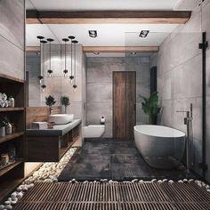 Bad Inspiration, Bathroom Inspiration, Design A Space, House Design, Contemporary Bathroom Designs, Contemporary Shelves, Contemporary Interior, Contemporary Toilets, Contemporary Houses