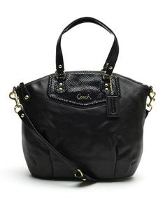 Another great find on #zulily! Black Ashley North South Satchel by Coach #zulilyfinds