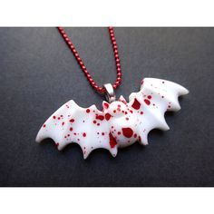 Resultado de imagen de creepy cute bloody bat necklace / bat necklace / guro lolita / goth