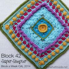 Block 42 of the Block a Week CAL 2014 is Donna Kay Lacey's Super Sampler Square. Donna has a photo tutorial available in PDF format.