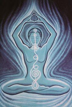 om - chakra - polarity - energy spiral - meditation