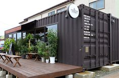Restau idea for now? Container Buildings, Container Architecture, Architecture Design, Shipping Container Restaurant, Shipping Container Office, Container Home Designs, Container Coffee Shop, Container Shop, Coffee Shop Design