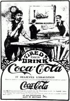 Uno de los primeros carteles publicitarios de Coca-Cola