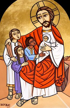 Christ blessing the children (coptic)