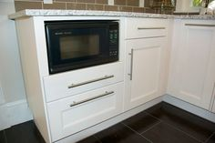 Microwave In 24 Base Cabinet Using Cover Panel Trim