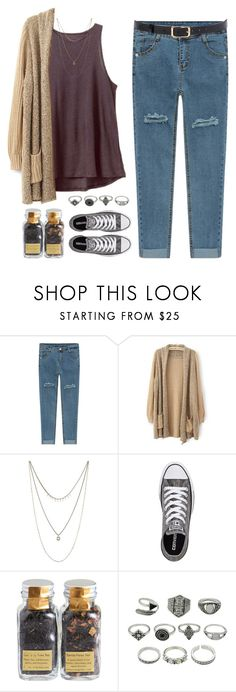 """Pam"" by brie-the-pixie ❤ liked on Polyvore featuring Lucky Brand, Converse, Debauve & Gallais, contestentry and polyPresents"