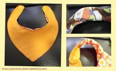 Un patrón gratis muy sencillo, con instrucciones paso a paso para que podáis hacer vuestros baberos bandana de tela para bebés en casa