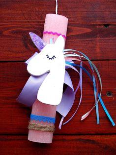 Λαμπάδες 2018-Easter candles 2018 Unicorn Unicorn, Easter, Candles, Christmas Ornaments, Holiday Decor, Diy, Bricolage, Easter Activities, Christmas Jewelry