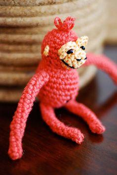 itty bitty orangutan free crochet pattern by vintage nettles