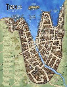 City of Triolo from the Midgard Campaign Setting ~ Open Design/Kobold Press (2012)