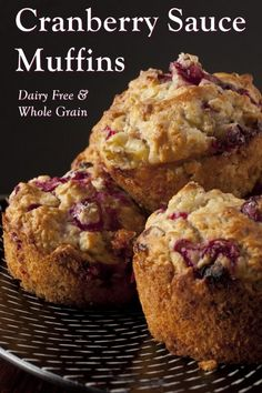 Cranberry Sauce Muffins Recipe (Dairy-Free & Whole Grain!) Cranberry Sauce Muffins Recipe (Dairy-Free & Whole Grain!),food Cranberry Sauce Muffins Recipe (Dairy-Free & Whole Grain! Cranberry Muffins, Muffins Blueberry, Recipe Using Cranberries, Canned Cranberries, Ginger Ale, Chili Chutney, Canned Cranberry Sauce, Cranberry Recipes Vegan, Breakfast