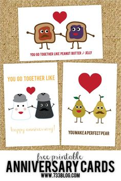 Frugal and Money Saving Group Board Free Printable Anniversary or Wedding Cards