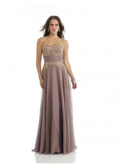 Sheath Column Sweetheart Floor Length Champagne Chiffon Evening Dress