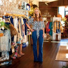 I need to go here! Cole Couture in Tallahassee, FL — country-chic displays, the best denim selection in town, the smell of Capri Blue candles throughout, and the shop's namesake pup