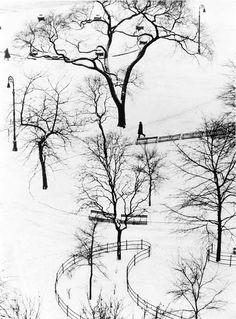 André Kertész, Washington Square, 1954
