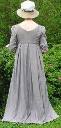 Regency Gown & Open Robe Back View| Sense & Sensibility Patterns