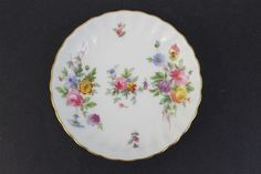 Vintage Signed Minton Marlow Fine Bone China Coaster Butter Pat Pin Dish Plate