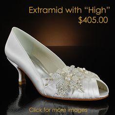 stuart weitzman extramid-pk white & ivory  Wedding Shoes