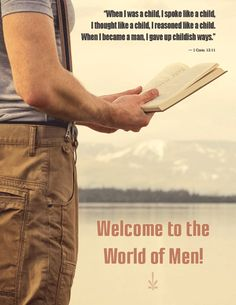 "Free ""World of Men"" poster with purchase of Celebrating Manhood."