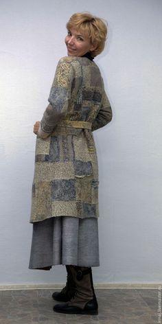 """Купить валяное пальто """"Лоскуток к лоскутку"""" в стиле пэчворк - бохо, бохо-стиль, бохо-шик"""